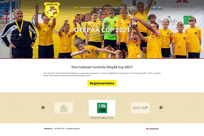 Otepää Cup kodulehe tegemine